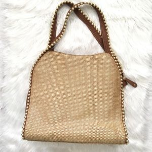 Big Buddha shoulder tote bag purse gold/brown